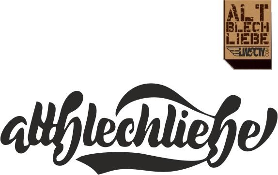 Altblechliebe Logo Folienschnitt aufkleber