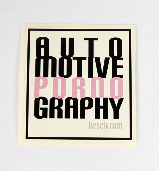 Sticker AUTO PORNO